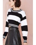 Nasty Gal Parallel Crop Sweater - Lyst