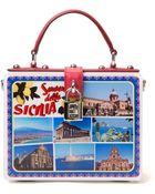 Dolce & Gabbana Postcard Box Clutch - Lyst
