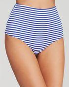 Zinke Blue Stripe High Waist Bikini Bottom - Lyst
