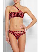 Agent Provocateur Tori Zebra-Print Bandeau Bikini Top - Lyst