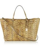Valentino Quilted Watersnake Tote - Lyst