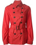 Burberry Brit Belted Short Trench Coat - Lyst