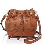 Rebecca Minkoff Shoulder Bag - Mini Fiona Bucket Perforated - Lyst