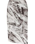 Helmut Lang Terrene Printed Stretch-Jersey Skirt - Lyst