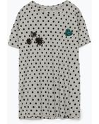 Zara Jewel Applique T-Shirt - Lyst