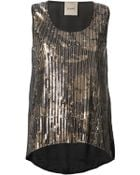 Nude Sequinned Vest - Lyst