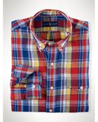 Ralph Lauren Plaid Linen Pocket Shirt - Lyst