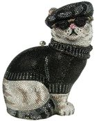 Judith Leiber Couture Crystal Beatnik Cat Minaudiere - Lyst