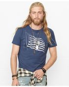 Denim & Supply Ralph Lauren Flag-Print Crewneck Tee - Lyst