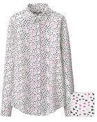 Uniqlo Printed Long Sleeve Blouse - Lyst