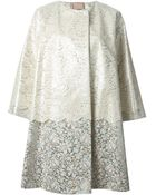 Antonio Marras Oversized Floral-lace Coat - Lyst