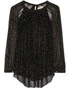 Etoile Isabel Marant Presley Printed Chiffon Blouse - Lyst