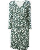 Tory Burch V-Neck Floral Print Dress - Lyst