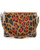 Christopher Kane Leopard-Print Leather Shoulder Bag - Lyst