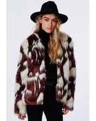 Missguided Amber Mixed Faux Fur Jacket - Lyst