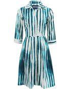 Samantha Sung Audrey Tide Print Dress - Lyst