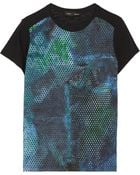 Proenza Schouler Printed Silk-Crepe And Cotton-Jersey T-Shirt - Lyst