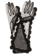 Simone Rocha Embellished Tulle Gloves - Lyst