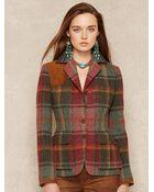 Ralph Lauren Blue Label Plaid Tweed Jacket - Lyst