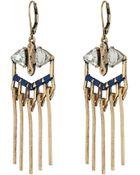 Sam Edelman Interstate Fringe Chandelier Earrings - Lyst