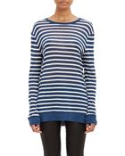 T By Alexander Wang Stripe Long-Sleeve T-Shirt - Lyst