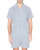 Derek Rose Nelson Tile-Print Short Pyjama Set - For Men - Lyst