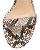 Gianvito Rossi Python Ankle-Wrap Skinny Sandal - Lyst