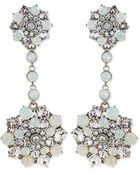 Oscar de la Renta Crystal Drop Clip-on Earrings - Lyst