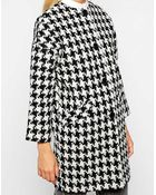 Helene Berman Button Front Collarless Coat - Lyst