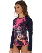 Tommy Bahama Ombre Palm L/S Rash Guard Cover-Up - Lyst