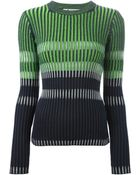 T By Alexander Wang Bleach Stripe Fitted Pullover - Lyst