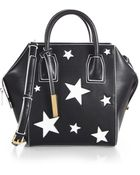 Stella McCartney Mini Faux-Leather Boston Bag With Stars - Lyst