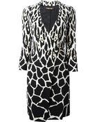Roberto Cavalli Leopard Print Wrap Dress - Lyst