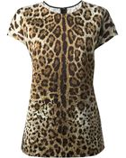 Dolce & Gabbana Leopard Print Top - Lyst