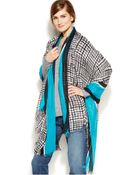 Calvin Klein Inked Grid Oversized Wrap - Lyst