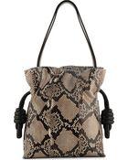 Loewe Flamenco Knot Python Small Bag - Lyst