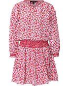 Juicy Couture Silk Printed Sugar Tulips Dress - Lyst
