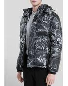 Sandro Oil Print Puffer Jacket - Lyst