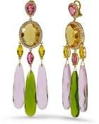 Ralph Lauren Swarovski Chandelier Earrings - Lyst