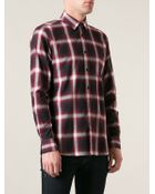 Saint Laurent Checked Shirt - Lyst