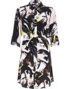 River Island Black Graphic Print Shirt Dress - Lyst