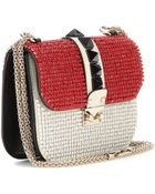 Valentino Glam Lock Small Embellished-Leather Shoulder Bag - Lyst