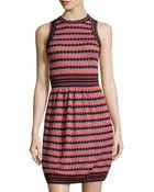 M Missoni Crochet Round-neck Dress - Lyst