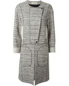 Nina Ricci Tweed Flap Coat - Lyst