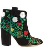 Laurence Dacade Embroidered Suede Ankle Boots - Lyst