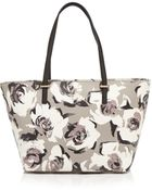 Kate Spade Cedar Street Floral-Print Saffiano Leather Tote - Lyst