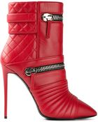 Giuseppe Zanotti Zip Detail Ankle Boots - Lyst
