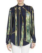 3.1 Phillip Lim Embellished Silk Blouse - Lyst