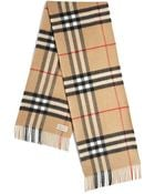 Burberry Giant Check Cashmere Scarf - Lyst