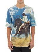 3.1 Phillip Lim Cowboyprint Crewneck Tshirt - Lyst